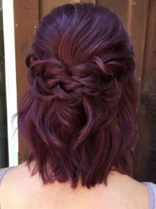 Hal-Up Braided Style with Short Hair