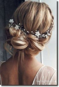 Elegant Low Pinned Bridal Style