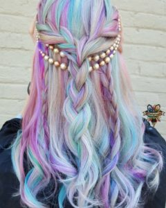 Pastel Hair With Multi Braids