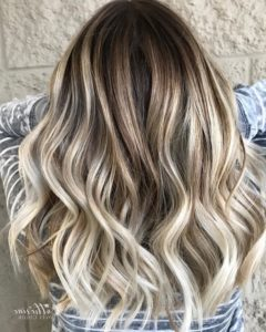 Ash Brown with Icy Blonde and Caramel Highlights