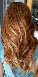 Ginger Hair with Caramel Highlights