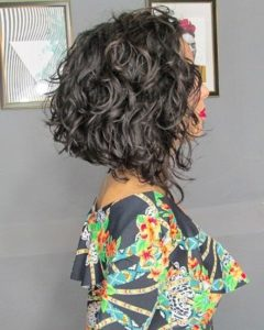 A-line Bob with Loose Curls