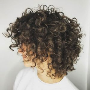 Tapered Layered Curly Bob