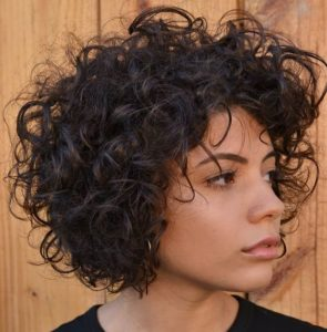 Inverted Bob with Tight Curls