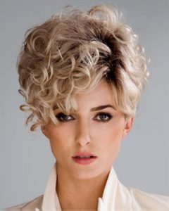 Layered Curly Pixie Cut