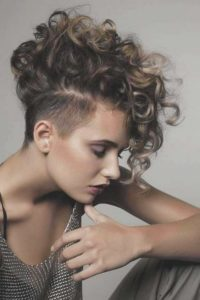 Short Curly Style with Undercut