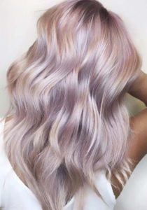 Dusty Rose and Lilac Hair
