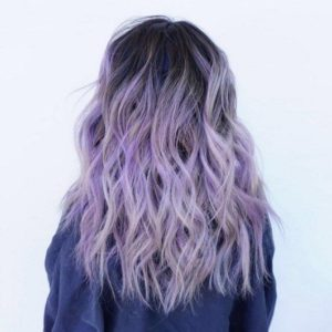 Black to Lilac Ombre