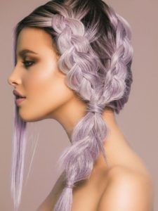 Frosted Lilac Braids