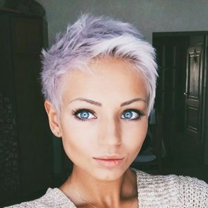 Icy Lilac Pixie Cut