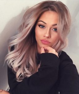 Soft Ash Blonde and Lilac Waves