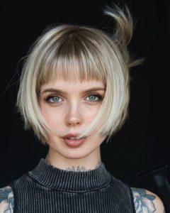 Short Bob with Wispy Bangs