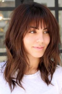 Wavy Lob with Wispy Fringe
