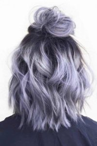 blue silver hair color