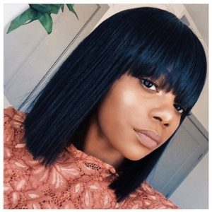 blunt bangs bob for black women