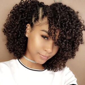 braided curly crochet
