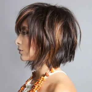 caramel bob haircut