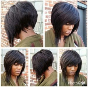 choppy stacked bob