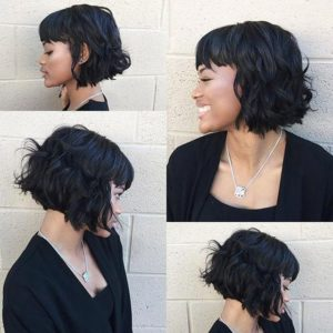 short bob sew in wavy