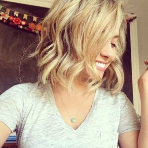 fun messy blonde bob haircut