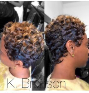 ombre pin curls