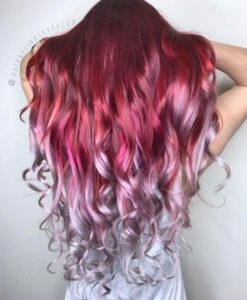 red silver ombre