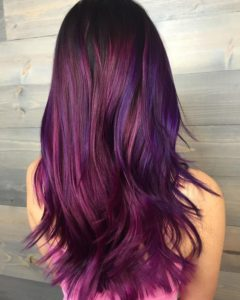 beautiful red purple hair