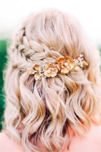 Half Up Braided Style for Shorter Hair