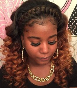 Braided crown with weave