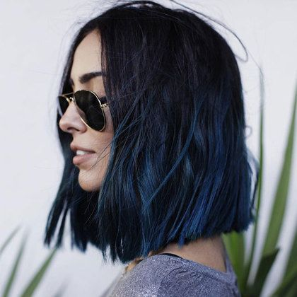 Dark Blue Hair Color Ideas And Images