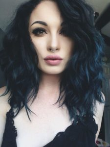 Gorgeous Blue Black Curls