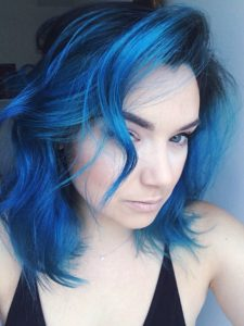 Deep Electric Blue Hair
