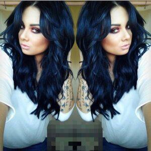 Glossy Blue-Black Curls