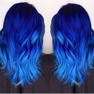 Navy and Electric Blue Ombre