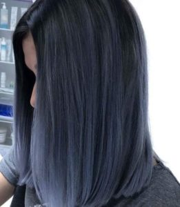 Sleek Denim Blue Bob
