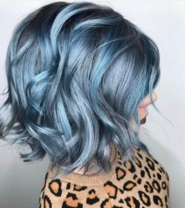 Blue Steel Hair with Baby Blue Highlights