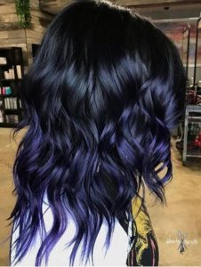 Stunning Midnight Blue Ombre