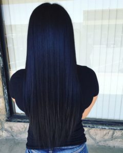 Super Sleek Blue-Black Hair