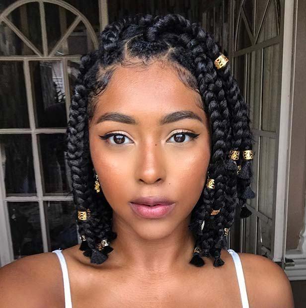 Medium Box Braids Hairstyles