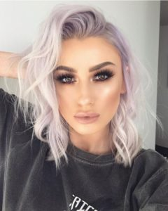 Pastel Lilac Hair for Hazel Eyes