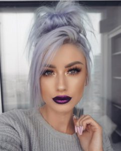 Silvery Lavender Locks for Hazel Eyes