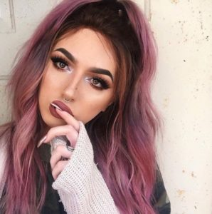 Smokey Mauve Hair for Hazel Eyes