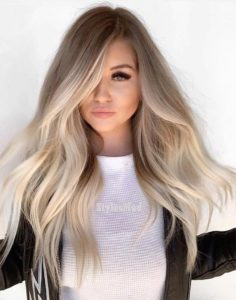 Ash Brown and Icy Blonde Balayage