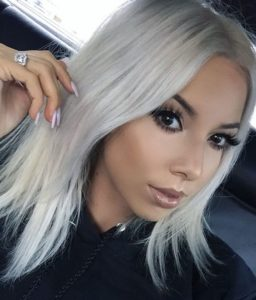 Icy Blonde Lob for Fine Hair