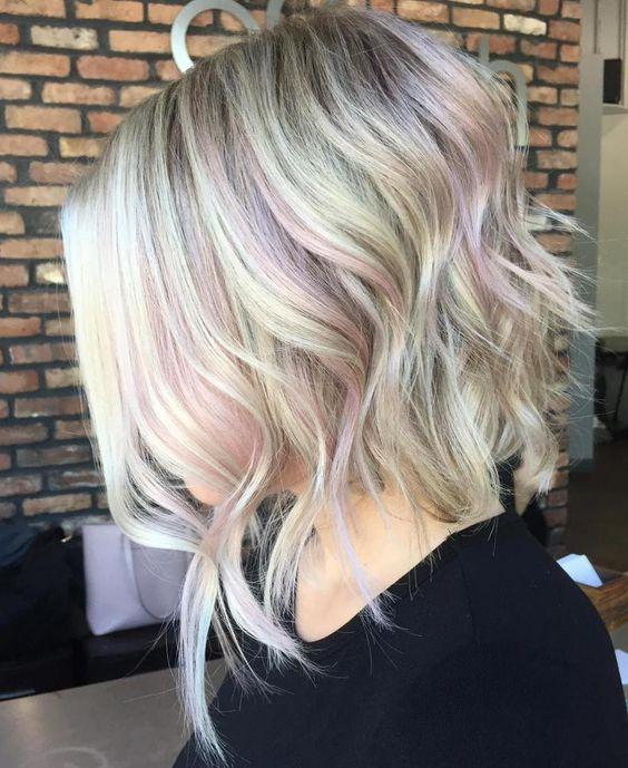 Light Pink Hair Balayage