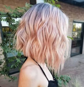 A-Line Bob in Blush Pink