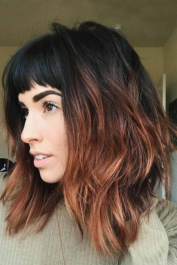 17+ Long Layered Bob Hairstyles With Bangs, Amazing Style!