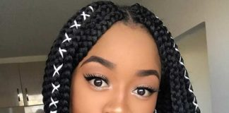 Medium Box Braid Styles