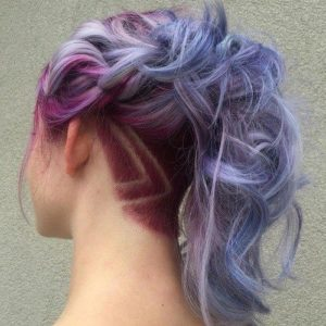 Goreous Pastel Hair with Geometric Undercut