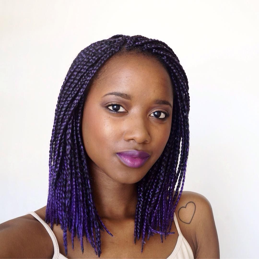 Medium Box Braids Hairstyles